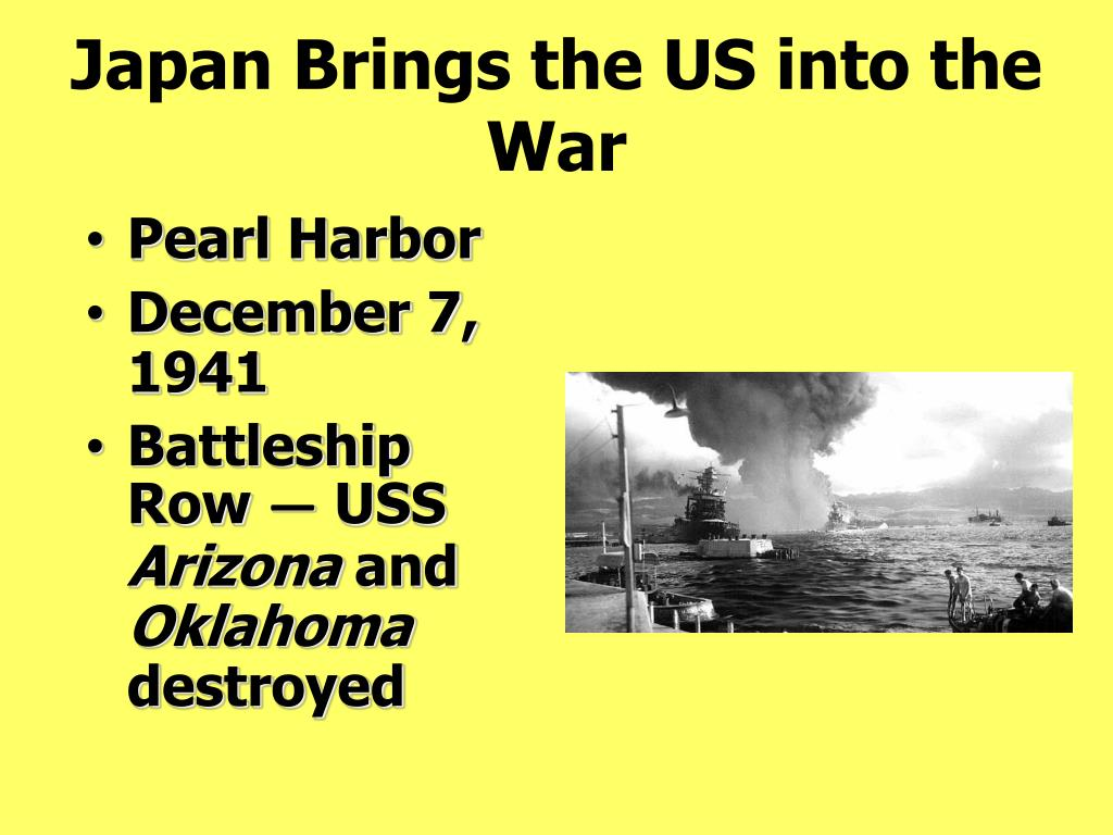 Japan Brings the US into the War