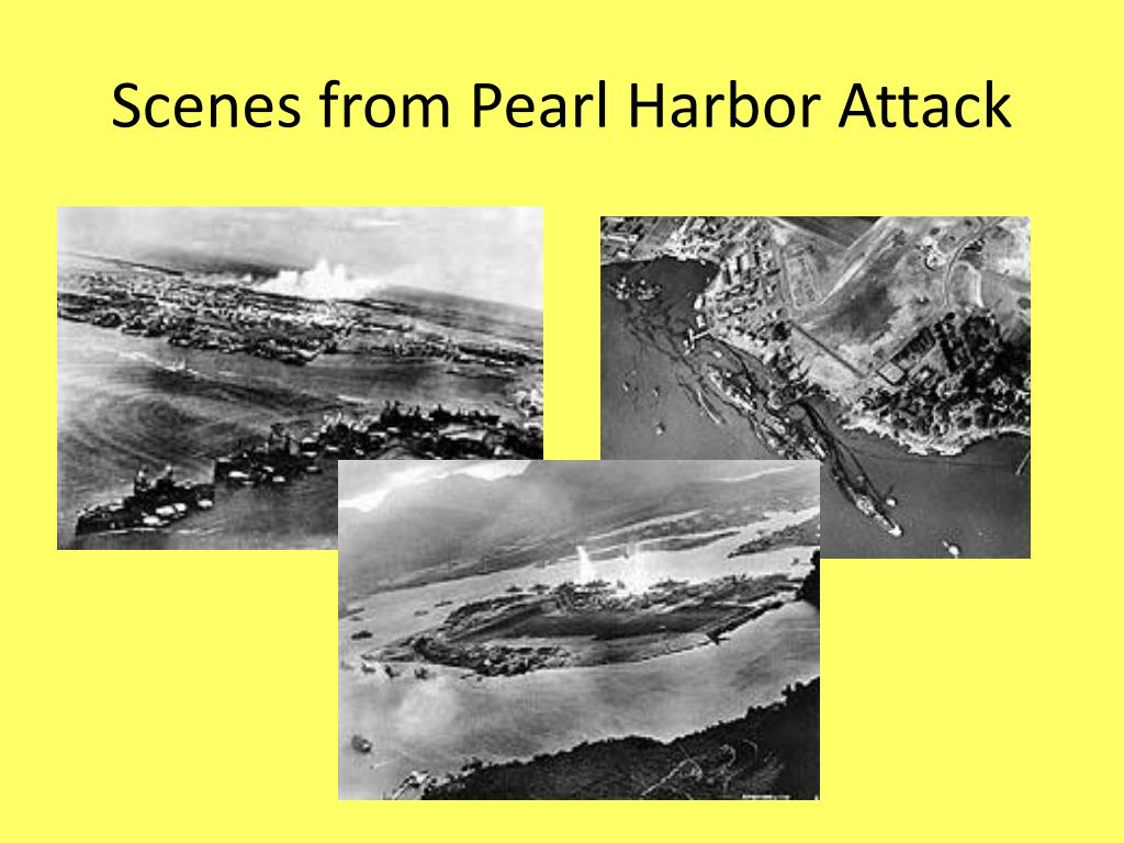 Scenes from Pearl Harbor Attack