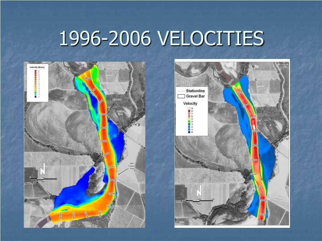 1996-2006 VELOCITIES