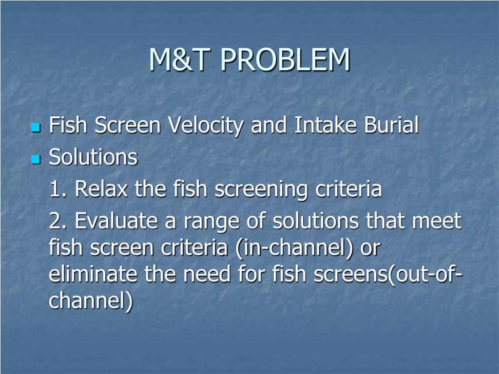 M&T PROBLEM