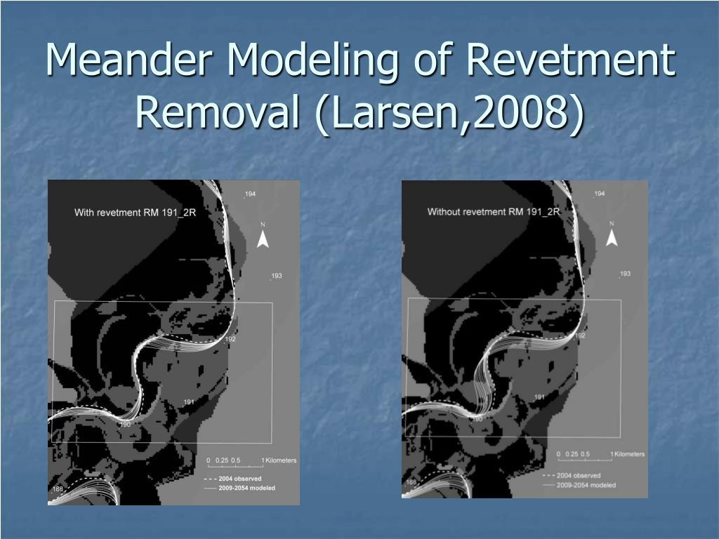 Meander Modeling of Revetment Removal (Larsen,2008)