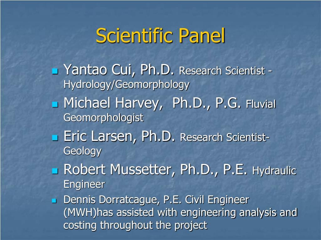 Scientific Panel