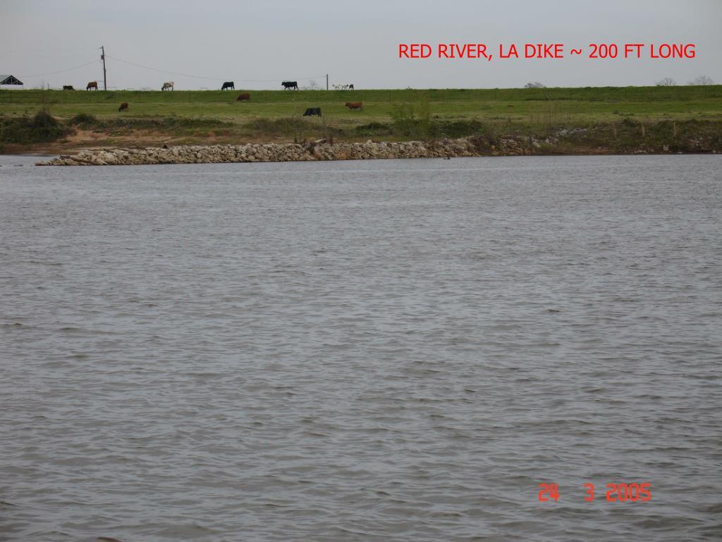 RED RIVER, LA DIKE ~ 200 FT LONG