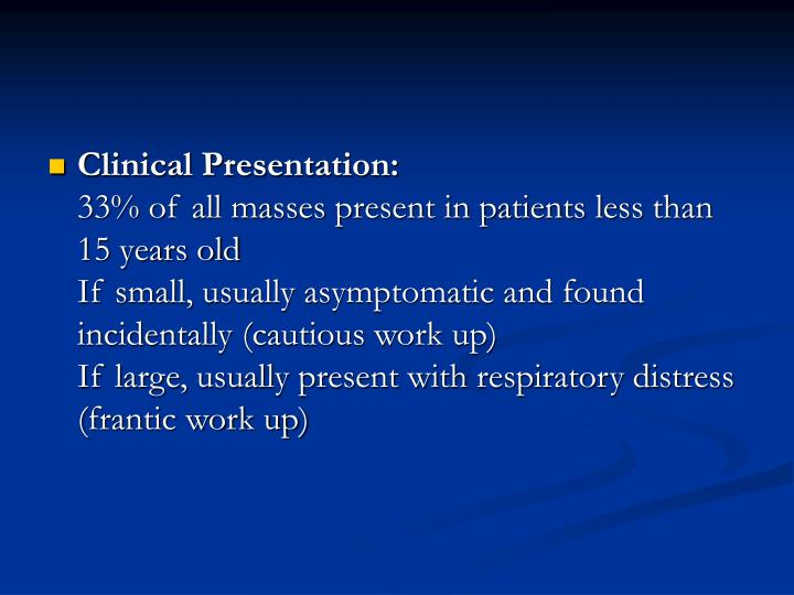 Clinical Presentation: