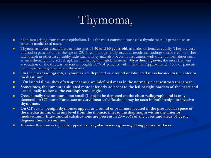 Thymoma,