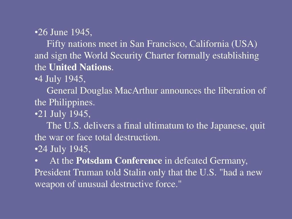 26 June 1945,