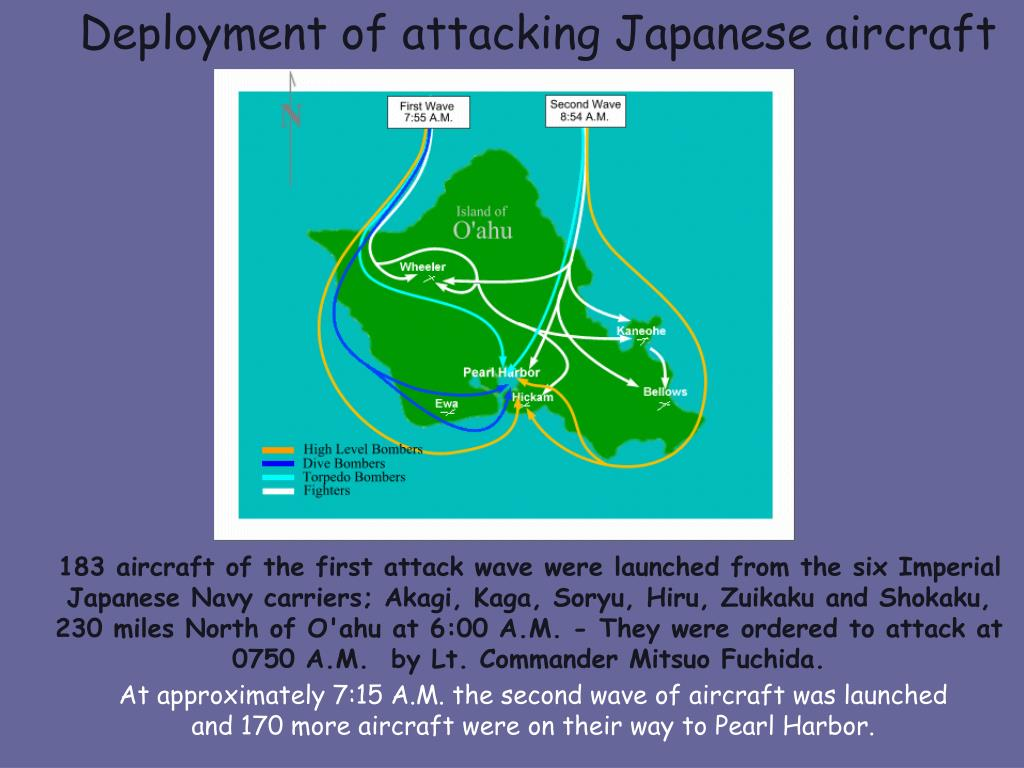 Deployment of attacking Japanese aircraft