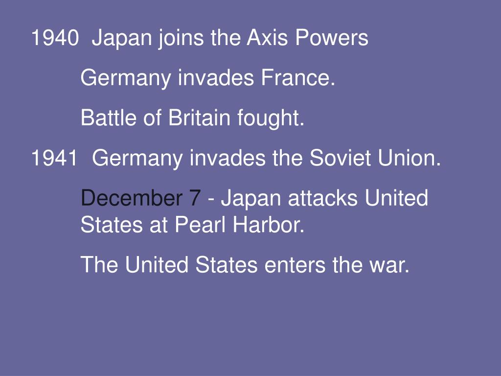 Japan joins the Axis Powers