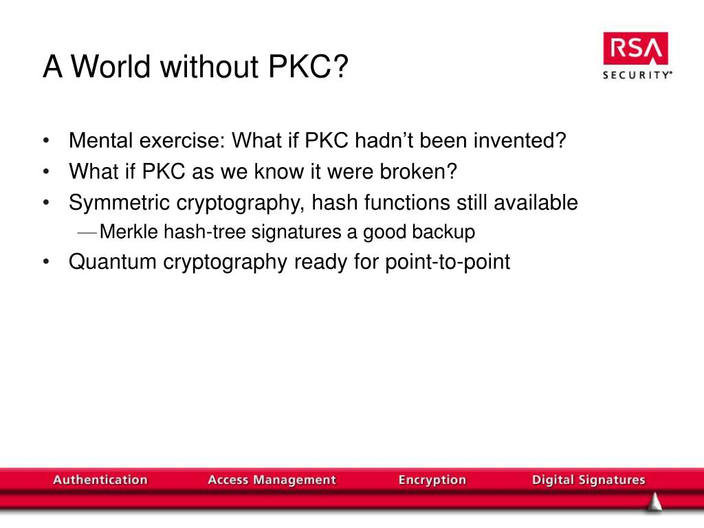 A World without PKC?