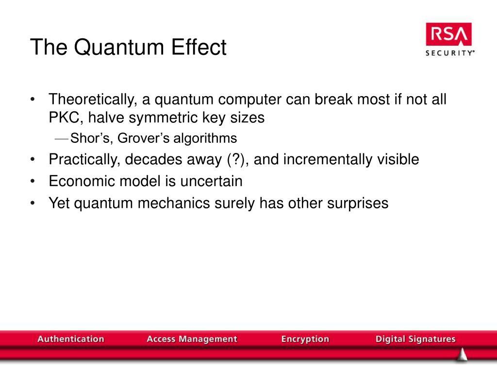 The Quantum Effect