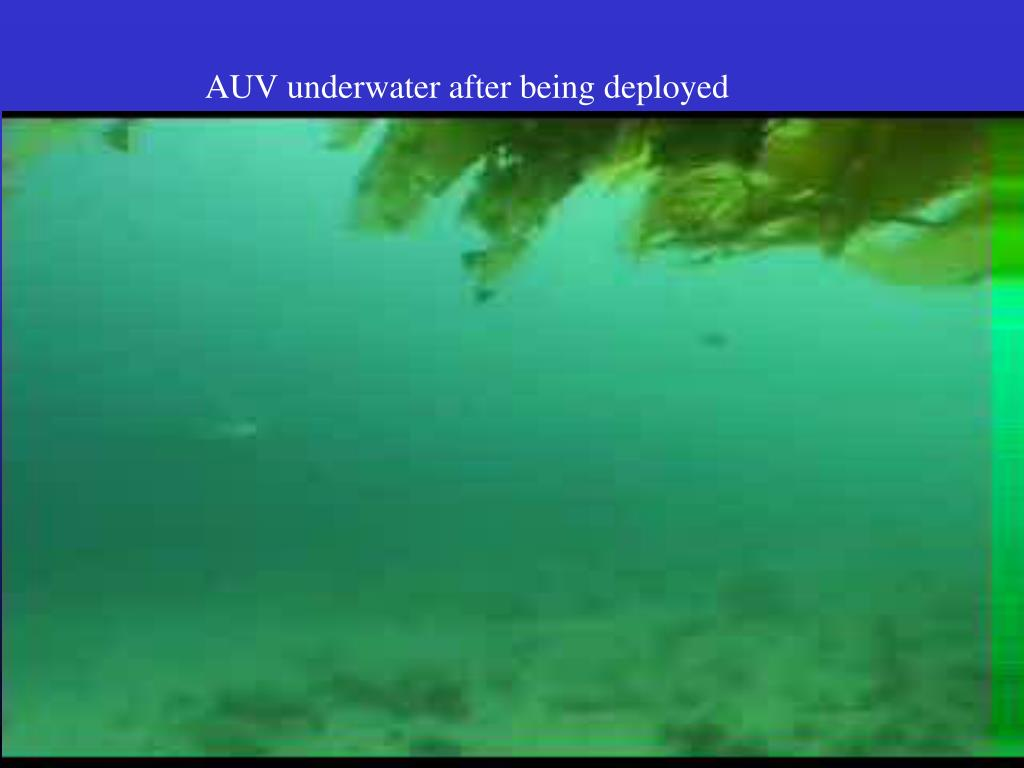 AUV underwater after being deployed