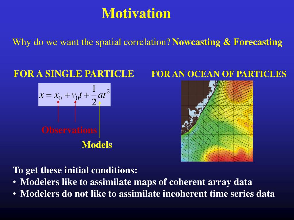 Why do we want the spatial correlation?