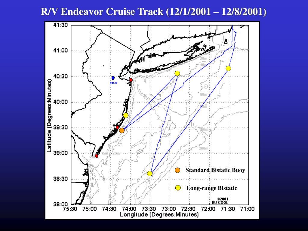 R/V Endeavor Cruise Track (12/1/2001 – 12/8/2001)