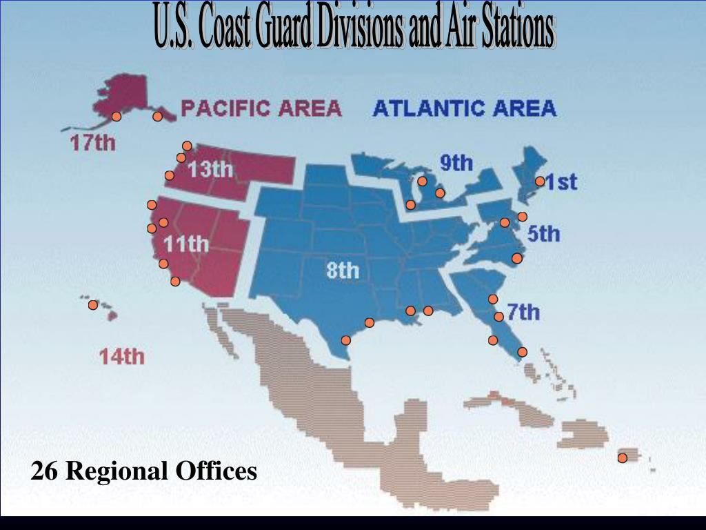 U.S. Coast Guard Divisions and Air Stations