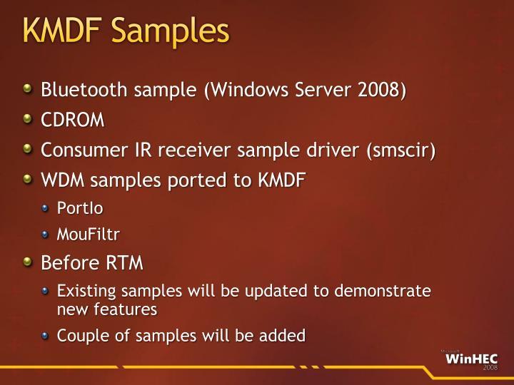 KMDF Samples