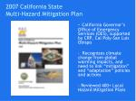 2007 california state multi hazard mitigation plan