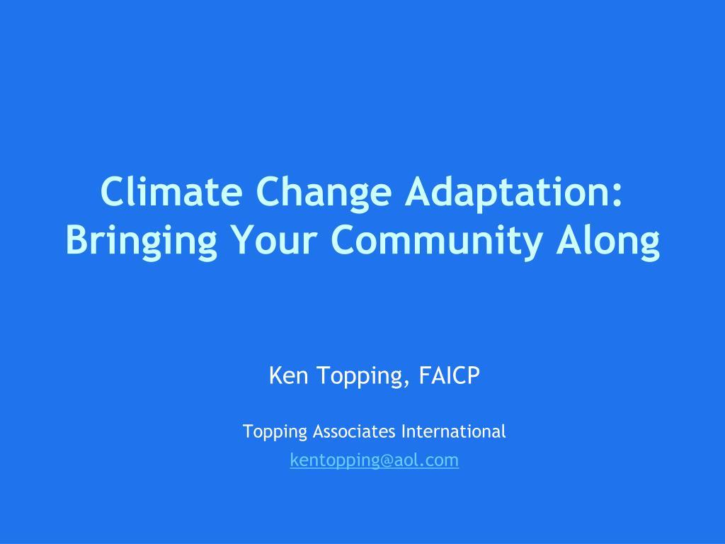 Climate Change Adaptation:
