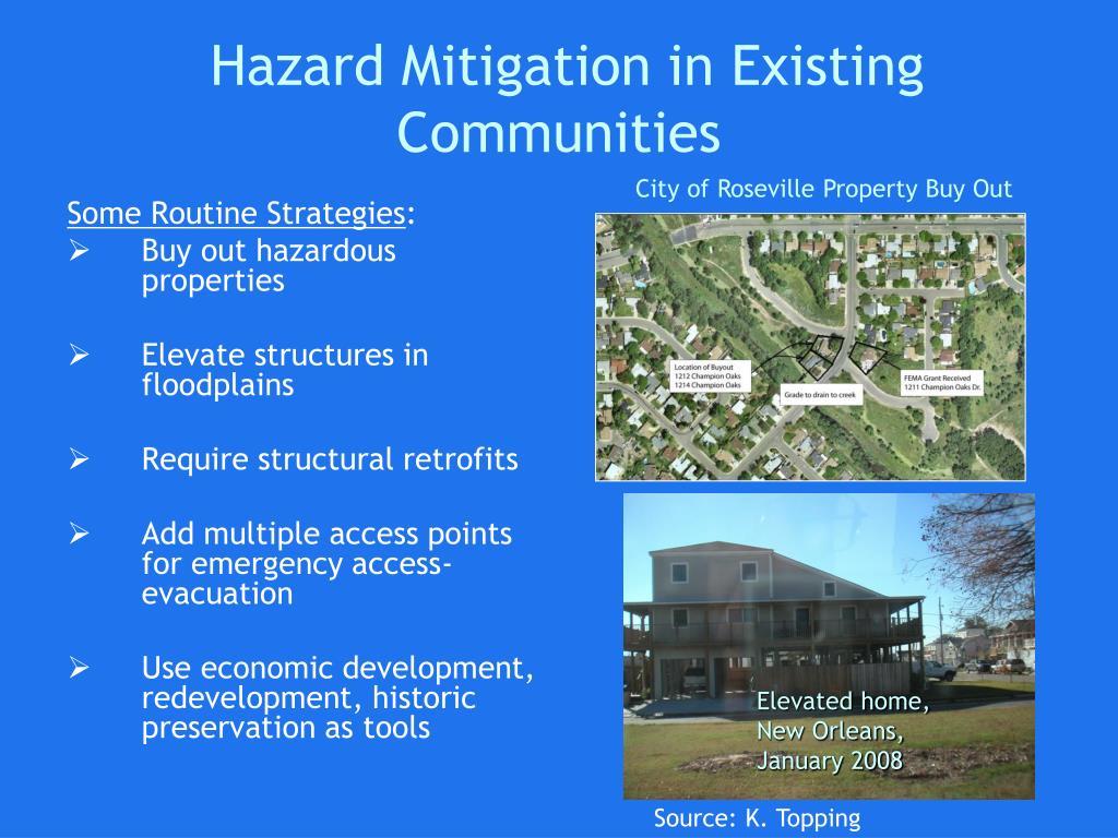 Hazard Mitigation in Existing Communities