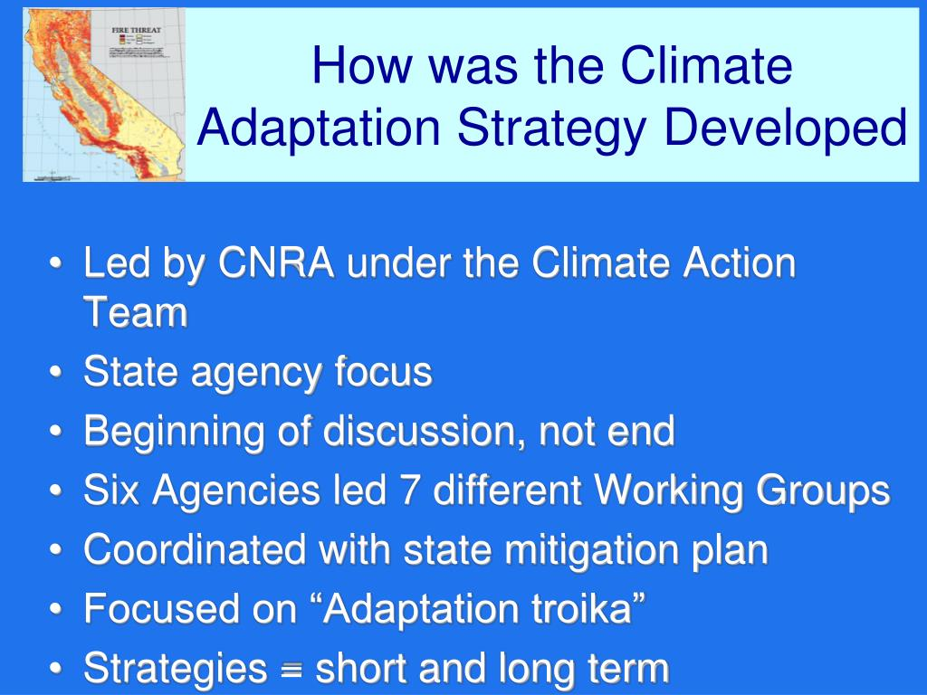 How was the Climate Adaptation Strategy Developed