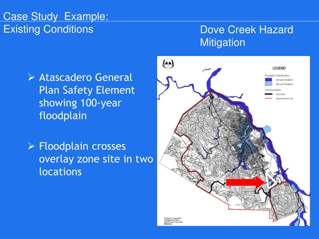 Atascadero General Plan Safety Element showing 100-year floodplain