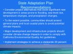 state adaptation plan recommendations