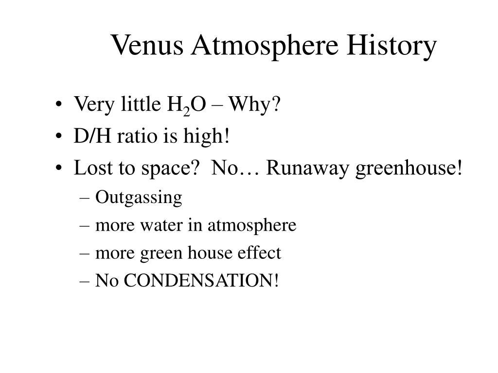 Venus Atmosphere History