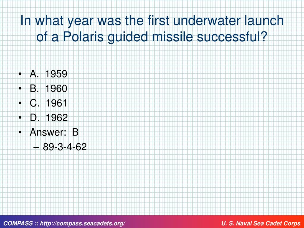 In what year was the first underwater launch of a Polaris guided missile successful?