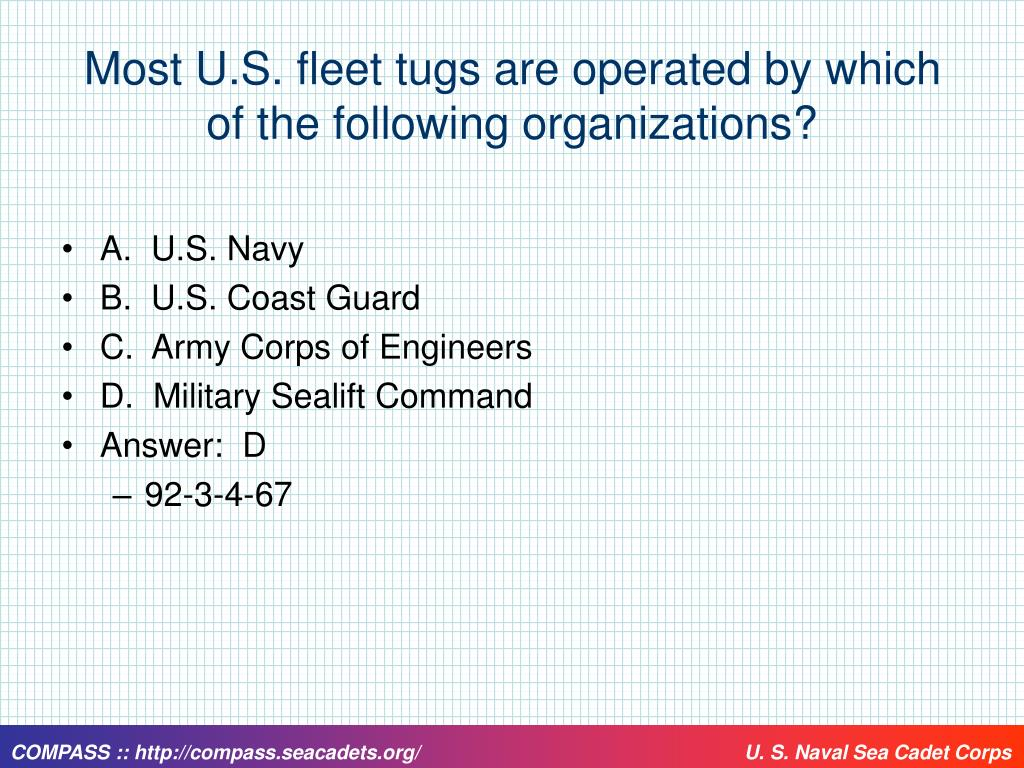Most U.S. fleet tugs are operated by which of the following organizations?