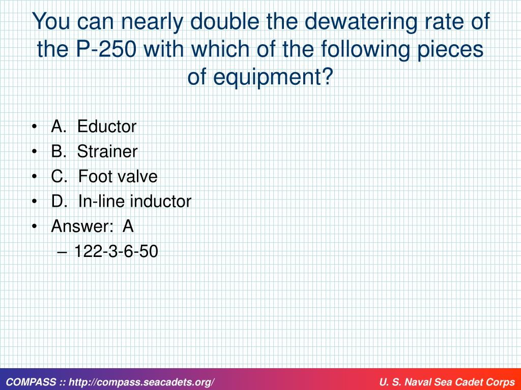You can nearly double the dewatering rate of the P-250 with which of the following pieces of equipment?