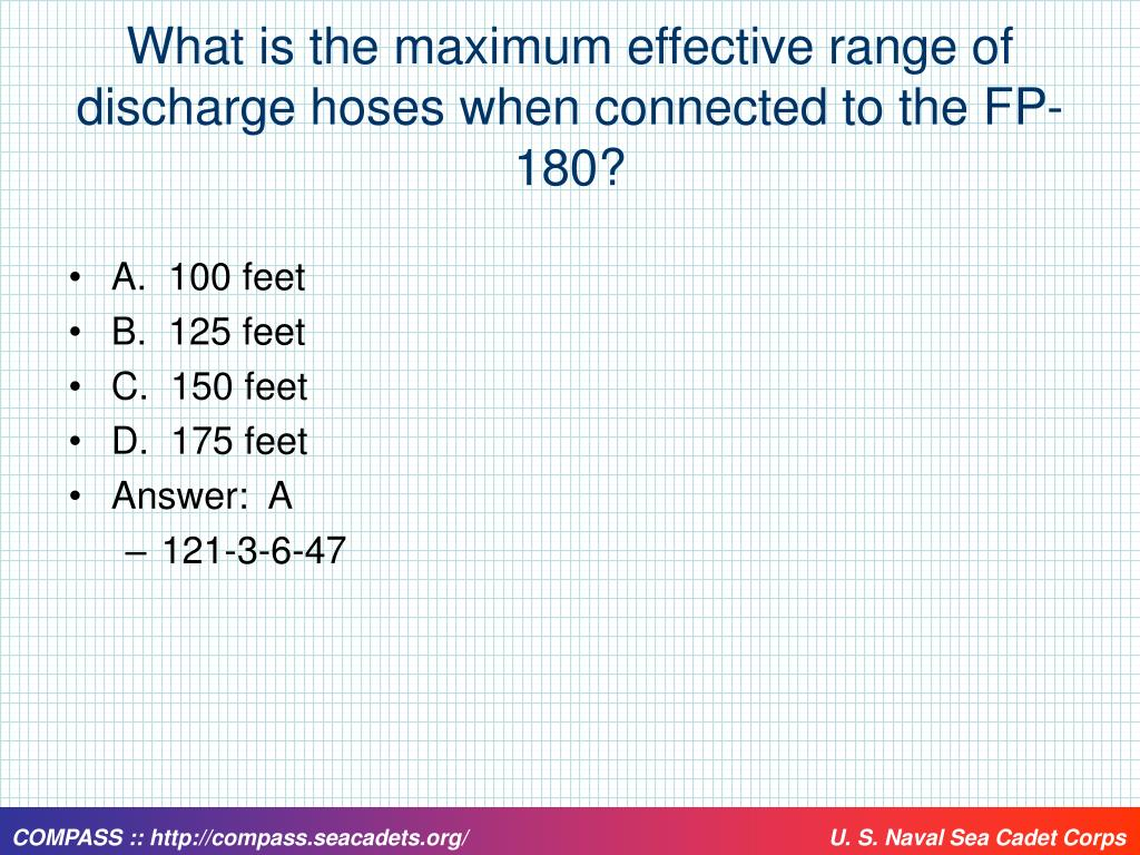 What is the maximum effective range of discharge hoses when connected to the FP-180?