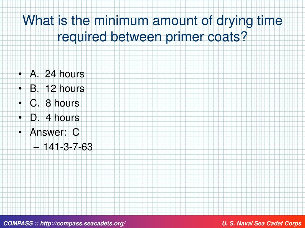 What is the minimum amount of drying time required between primer coats?