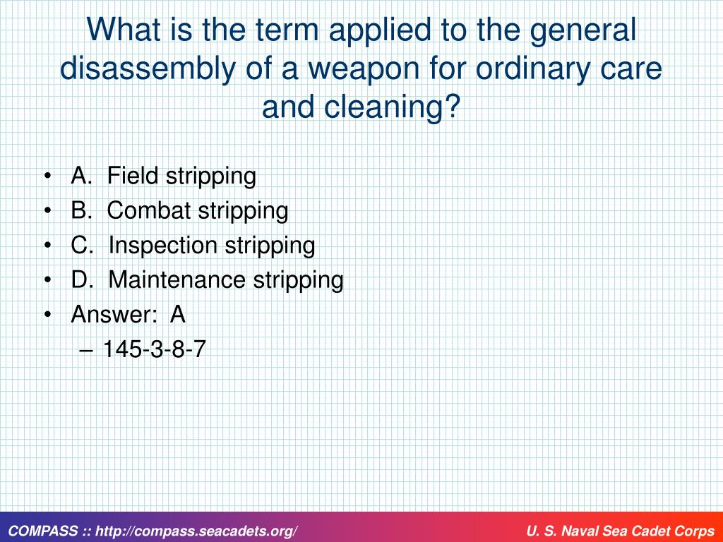 What is the term applied to the general disassembly of a weapon for ordinary care and cleaning?