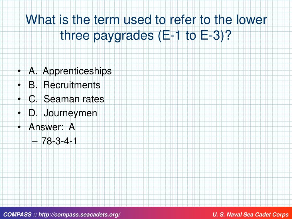 What is the term used to refer to the lower three paygrades (E-1 to E-3)?