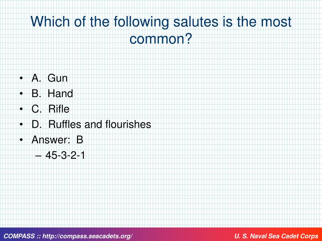 Which of the following salutes is the most common?
