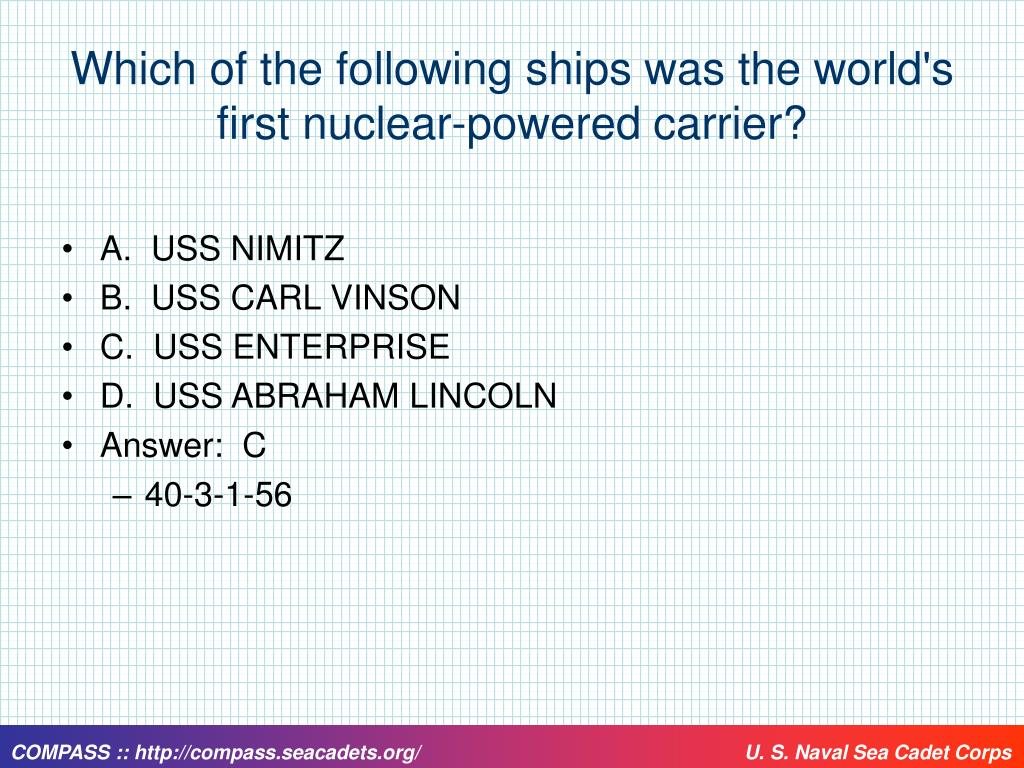 Which of the following ships was the world's first nuclear-powered carrier?