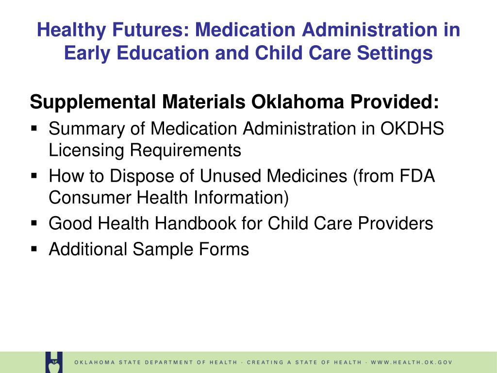 Supplemental Materials Oklahoma Provided: