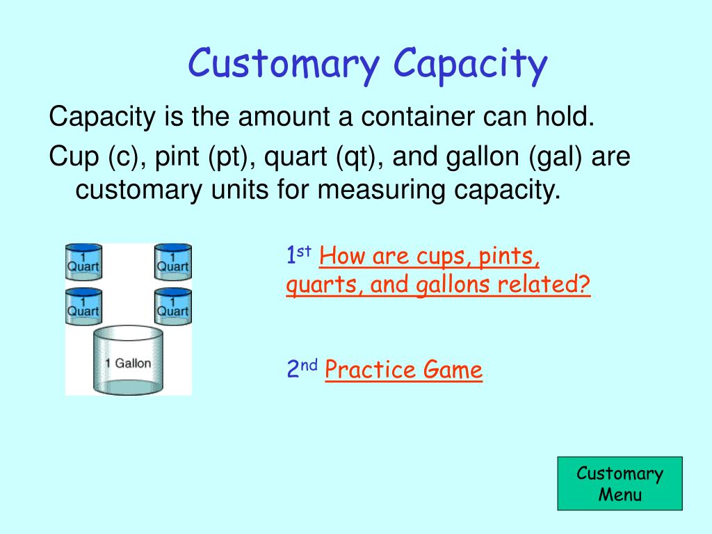 Customary Capacity