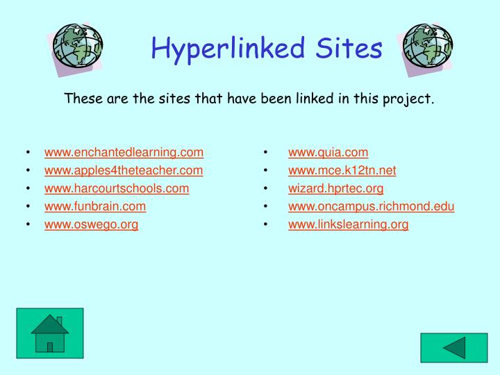 Hyperlinked sites l.jpg