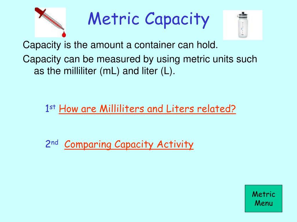 Metric Capacity