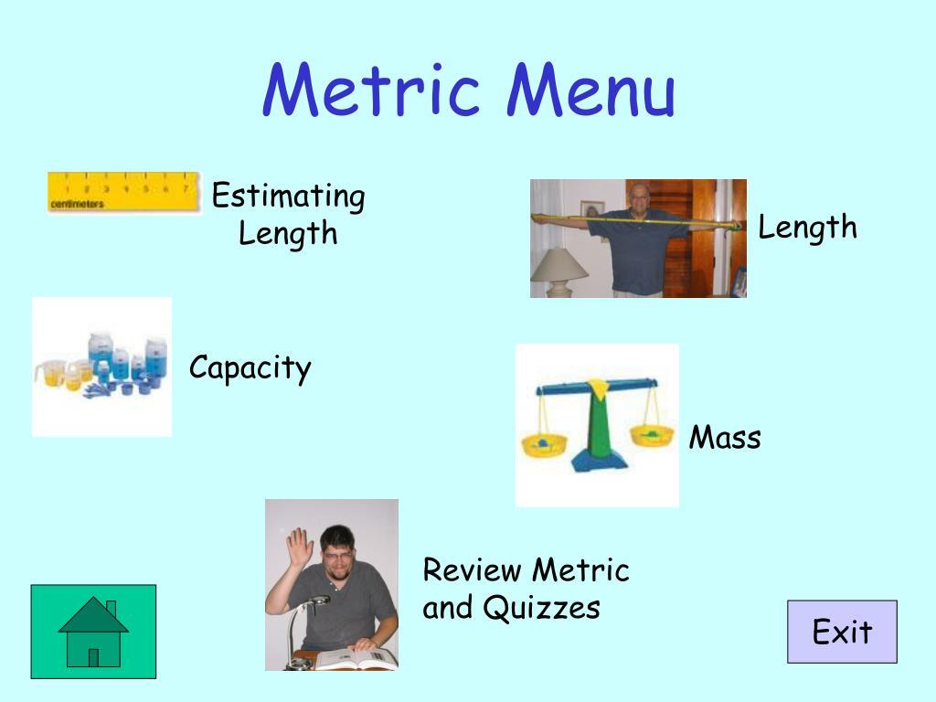 Metric Menu