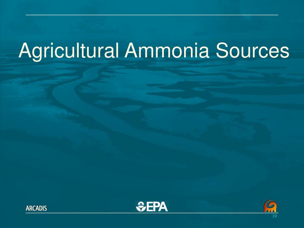 Agricultural Ammonia Sources