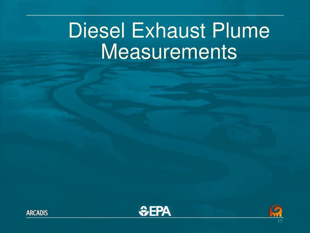 Diesel Exhaust Plume Measurements