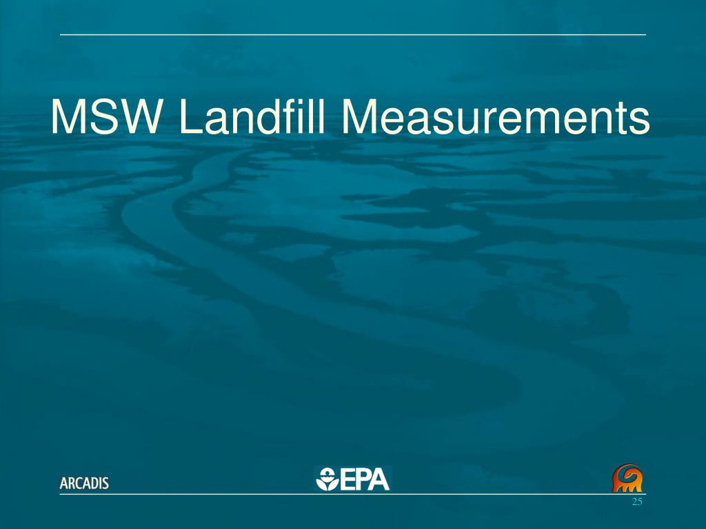 MSW Landfill Measurements