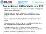 applications of abc analysis for a dtc