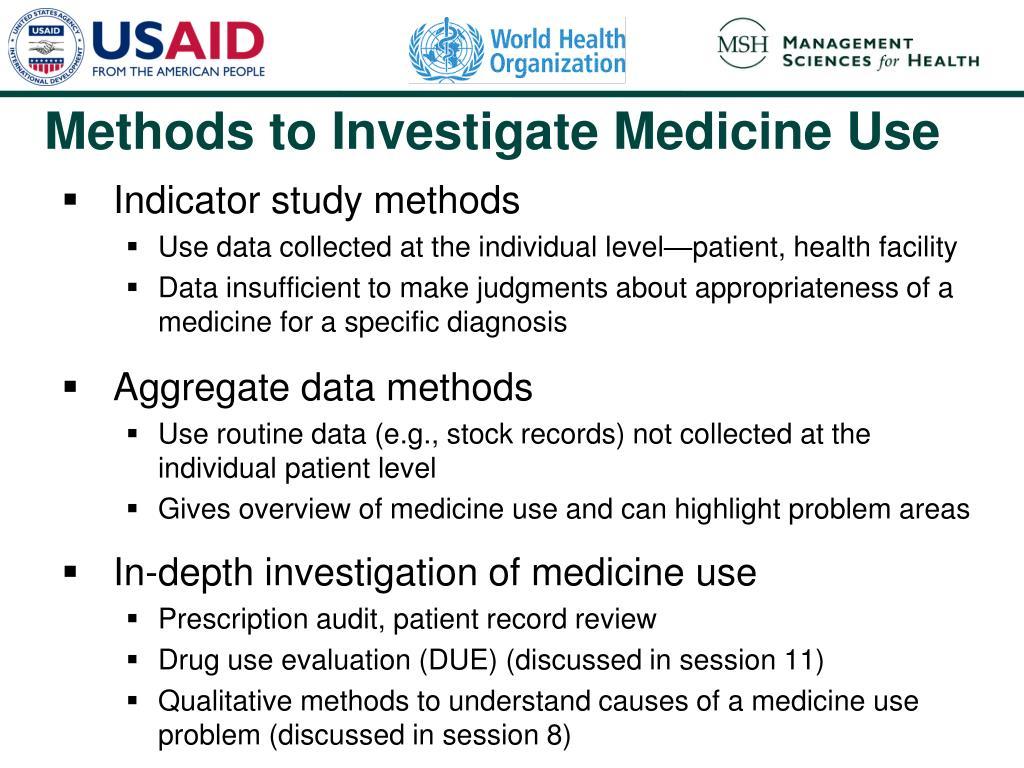Indicator study methods