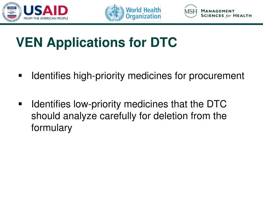 Identifies high-priority medicines for procurement