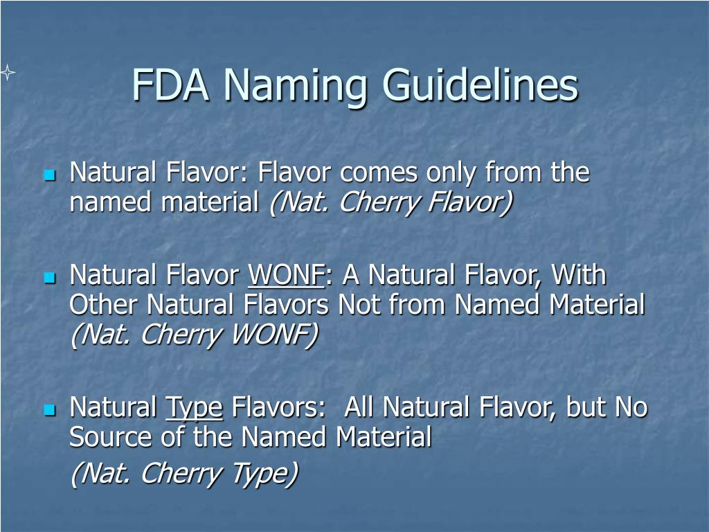 FDA Naming Guidelines