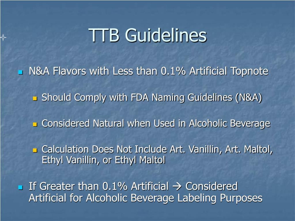 TTB Guidelines