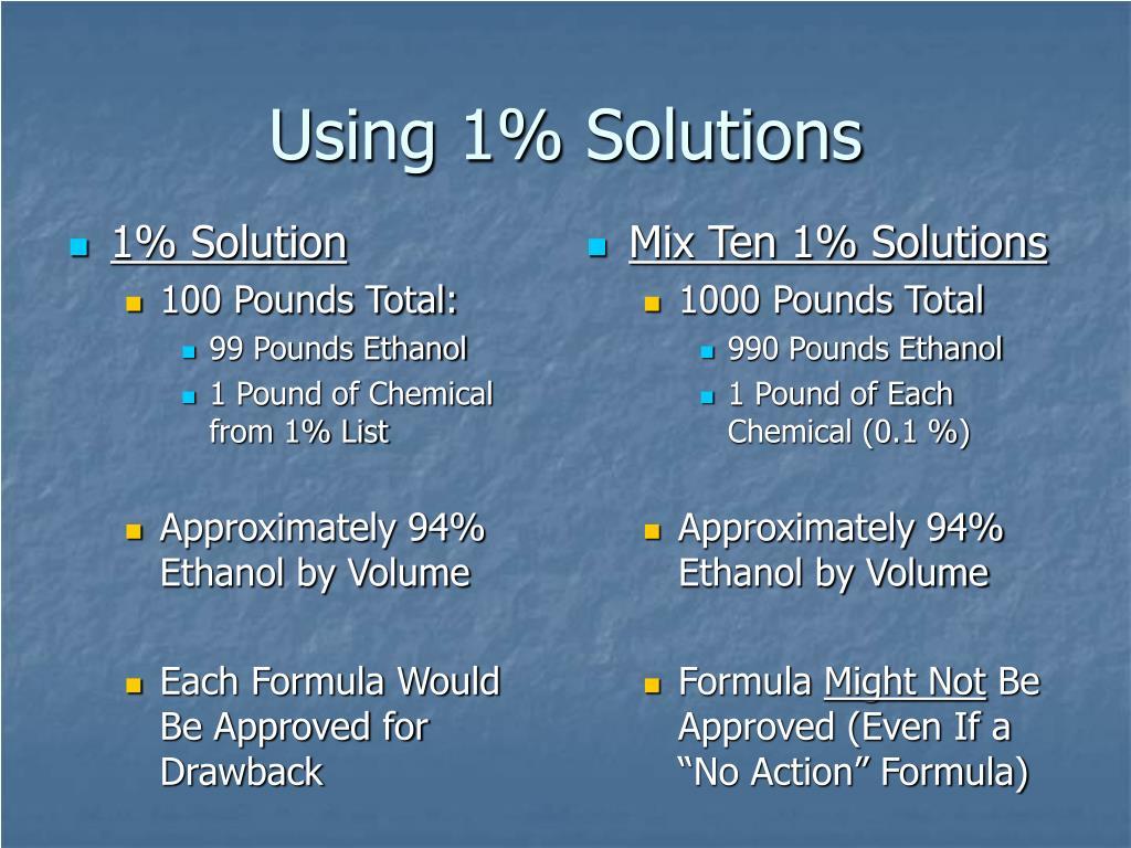 Mix Ten 1% Solutions