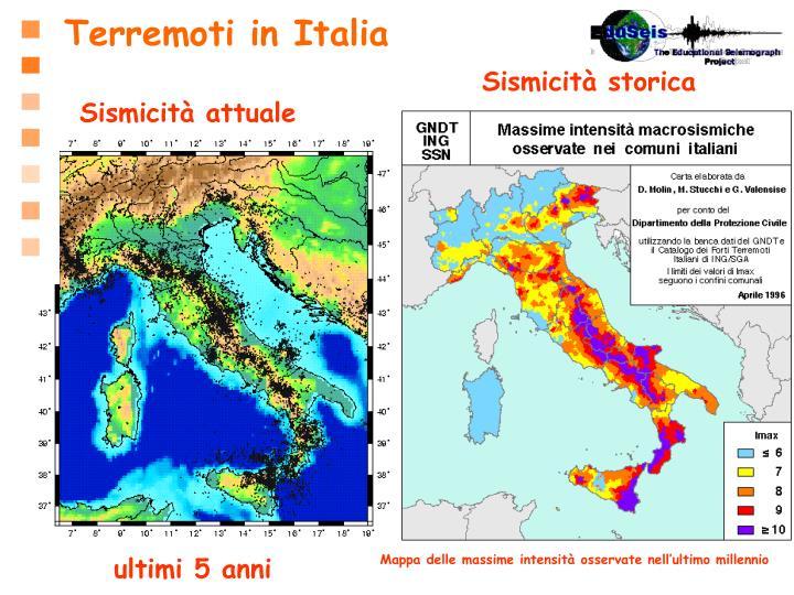 Terremoti in Italia